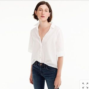 J Crew Short-sleeve button-up shirt size xxs